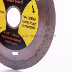 Lazered Turbo Type Dry Diamond Saw Blade for Ceramic Cutting